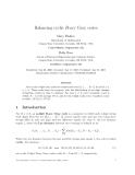 """Báo cáo toán học: """"Balancing cyclic R-ary Gray codes"""""""