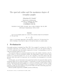 "Báo cáo toán học: ""The spectral radius and the maximum degree of irregular graphs"""