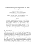 "Báo cáo toán học: "" Robinson-Schensted correspondence for the signed Brauer algebras"""