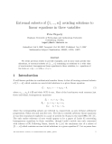 """Báo cáo toán học: """"Extremal subsets of {1, ..., n} avoiding solutions to linear equations in three variables"""""""