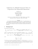 "Báo cáo toán học: ""Evaluation of a Multiple Integral of Tefera via Properties of the Exponential"""