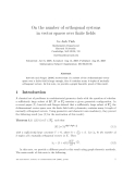 """Báo cáo toán học: """"On the number of orthogonal systems in vector spaces over finite fields"""""""