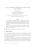 "Báo cáo toán học: ""A note on neighbour-distinguishing regular graphs total-weightin"""