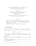 """Báo cáo toán học: """"A counterexample to a conjecture of Erd˝s, Graham and Spencer o"""""""