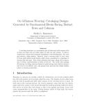 "Báo cáo toán học: ""On 3-Harness Weaving: Cataloging Designs Generated by Fundamental Blocks Having Distinct Rows and Columns"""