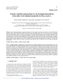 """Báo cáo lâm nghiệp: """"Genetic variation and genotype by environment interactions of juvenile wood chemical properties in Pinus taeda """""""