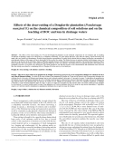 """Báo cáo lâm nghiệp: """"Effects of the clear-cutting of a Douglas-fir plantation (Pseudotsuga menziesii F.) on the chemical composition of soil solutions and on the leaching of DOC and ions in drainage waters"""""""