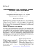 """Báo cáo lâm nghiệp: """"Evaluation of a semi-empirical model for predicting fine root biomass in compositionally complex woodland vegetation"""""""