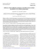 """Báo cáo lâm nghiệp: """"Influence of the fertilisation method in controlled ectomycorrhizal inoculation of two Mediterranean pines"""""""