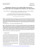 "Báo cáo lâm nghiệp: ""Management criteria for Ficus insipida Willd. (Moraceae) in Amazonian white-water floodplain forests defined by tree-ring analysis"""