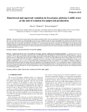 """Báo cáo lâm nghiệp: """"Heartwood and sapwood variation in Eucalyptus globulus Labill. trees at the end of rotation for pulpwood production"""""""