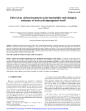 """Báo cáo lâm nghiệp: """"Effect of an oil heat treatment on the leachability and biological resistance of boric acid impregnated wood"""""""