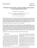 """Báo cáo lâm nghiệp: """"Productivity of Pinus elliottii, P. caribaea and their F1 and F2 hybrids to 15 years in Queensland, Australia"""""""