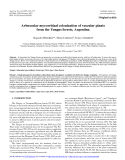 """Báo cáo lâm nghiệp: """"Arbuscular mycorrhizal colonization of vascular plants from the Yungas forests, Argentin"""""""