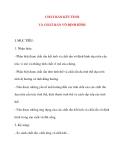 Giáo án Vật Lý lớp 10: CHẤT RẮN KẾT TINH VÀ CHẤT RẮN VÔ ĐỊNH HÌNH