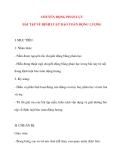 Giáo án Vật Lý lớp 10: CHUYỂN ĐỘNG PHẢN LỰC