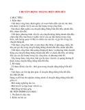 Giáo án Vật Lý lớp 10: CHUYỂN ĐỘNG THẲNG BIẾN ĐỔI ĐỀU