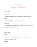 Giáo án Vật Lý lớp 10: LỰC HẤP DẪN ĐỊNH LUẬT VẠN VẬT HẤP DẪN