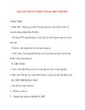 Giáo án Vật Lý lớp 10: BÀI TẬP CHUYỂN ĐỘNG THẲNG BIẾN ĐỔI ĐỀU