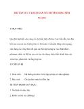Giáo án Vật Lý lớp 10: BÀI TẬP LỰC VÀ BÀI TOÁN VỀ CHUYỂN DỘNG NÉM NGANG