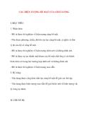 Giáo án Vật Lý lớp 10: CÁC HIỆN TƯỢNG BỀ MẶT CỦA CHẤT LỎNG