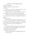 Giáo án Lịch Sử lớp 10: CÁCH MẠNG CÔNG NGHIỆP Ở CHÂU ÂU
