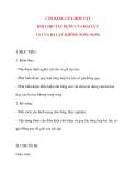 Giáo án Vật Lý lớp 10: CÂN BẰNG CỦA MỘT VẬT KHI CHỊU TÁC DỤNG CỦA HAI LỰC VÀ CỦA BA LỰC KHÔNG SONG SONG