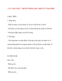 Giáo án Vật Lý lớp 10: CẤU TẠO CHẤT - THUYẾT ĐỘNG HỌC PHÂN TỬ CHẤT KHÍ