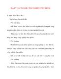 Giáo án Địa Lý lớp 10: ĐỊA LÝ CÁC NGÀNH CÔNG NGHIỆP (TIẾP THEO)