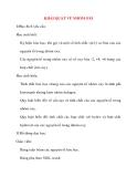 Giáo án Hóa Học lớp 10: KHÁI QUÁT VỀ NHÓM OXI