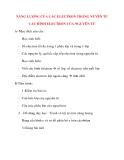 Giáo án Hóa Học lớp 10: NĂNG LƯỢNG CỦA CÁC ELECTRON TRONG NUYÊN TỬ CẤU HÌNH ELECTRON CỦA NGUYÊN TỬ