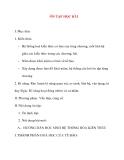 Giáo án Sinh Học lớp 10: ÔN TẬP HỌC KÌ I