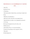 Giáo án Địa Lý lớp 10: PHÂN BỐ DÂN CƯ .CÁC LOẠI HÌNH QUẦN CƯ VÀ ĐÔ THỊ HOÁ