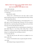 Giáo án Lịch Sử lớp 10: PHONG TRÀO TÂY SƠN VÀ SỰ NGHIỆP THỐNG NHẤT ĐẤT NƯỚC BẢO VỆ TỔ QUỐC CUỐI THẾ KỶ XVIII