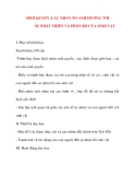 Giáo án Địa Lý lớp 10: SINH QUYỂN ,CÁC NHÂN TỐ ẢNH HƯỞNG TỚI SỰ PHÁT TRIỂN VÀ PHÂN BỐ CỦA SINH VẬT