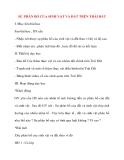 Giáo án Địa Lý lớp 10: SỰ PHÂN BỐ CỦA SINH VẬT VÀ ĐẤT TRÊN TRÁI ĐẤT