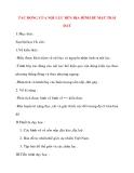 Giáo án Địa Lý lớp 10: TÁC ĐỘNG CỦA NỘI LỰC ĐẾN ĐỊA HÌNH BỀ MẶT TRÁI ĐẤT