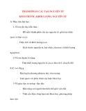 Giáo án Hóa Học lớp 10: THÀNH PHẦN CẤU TẠO NGUYÊN TỬ KÍCH THƯỚC, KHỐI LƯỢNG NGUYÊN TỬ
