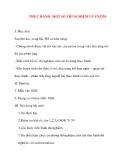 Giáo án Sinh Học lớp 10: THỰC HÀNH- MỘT SỐ THÍ NGHIỆM VỀ ENZIM