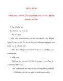 Giáo án Địa Lý lớp 10: THỰC HÀNHVIẾT BÁO CÁO NGẮN VỀ KÊNH ĐÀO XUY-Ê VÀ KÊNH ĐÀO PA-NA-MA