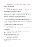 Giáo án Lịch Sử lớp 10: TÌNH HÌNH VĂN HOÁ Ở CÁC THẾ KỶ XVI - XVIII