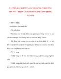 Giáo án Địa Lý lớp 10: VAI TRÒ, ĐẶC ĐIỂM VÀ CÁC NHÂN TỐ ẢNH HƯỞNG ĐẾN PHÁT TRIỂN VÀ PHÂN BỐ NGÀNH GIAO THÔNG VẬN TẢI