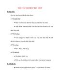Giáo án Đại Số lớp 10: DẤU CỦA NHỊ THỨC BẬC NHẤT