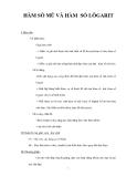 GIÁO ÁN ĐẠI SỐ 12: HÀM SỐ MŨ VÀ HÀM SỐ LÔGARIT