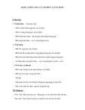 DẠNG LƯỢNG GIÁC CỦA SỐ PHỨC & ỨNG DỤNG