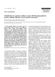 "Báo cáo khoa học: "" Identification of a putative cellular receptor 150 kDa polypeptide for porcine epidemic diarrhea virus in porcine enterocytes"""