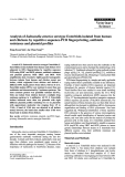 """Báo cáo khoa học: """"Analysis of Salmonella enterica serotype Enteritidis isolated from human and chickens by repetitive sequence-PCR fingerprinting, antibiotic resistance and plasmid profiles"""""""