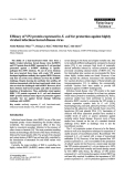 """Báo cáo khoa học: """" Efficacy of VP2 protein expressed in E. coli for protection against highly virulent infectious bursal disease virus"""""""