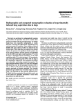 """Báo cáo khoa học: """"Radiographic and computed tomographic evaluation of experimentally induced lung aspiration sites in dogs"""""""