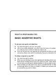 THE ASSERTIVENESS POCKET BOOK phần 5